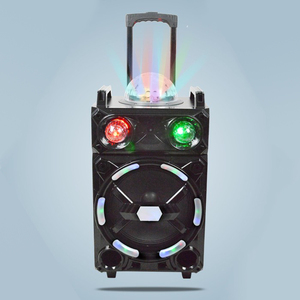 12 Inch Professional Speaker with Disco Light Effect Subwoofer Speaker Portable Karaoke Trolley Speaker Box