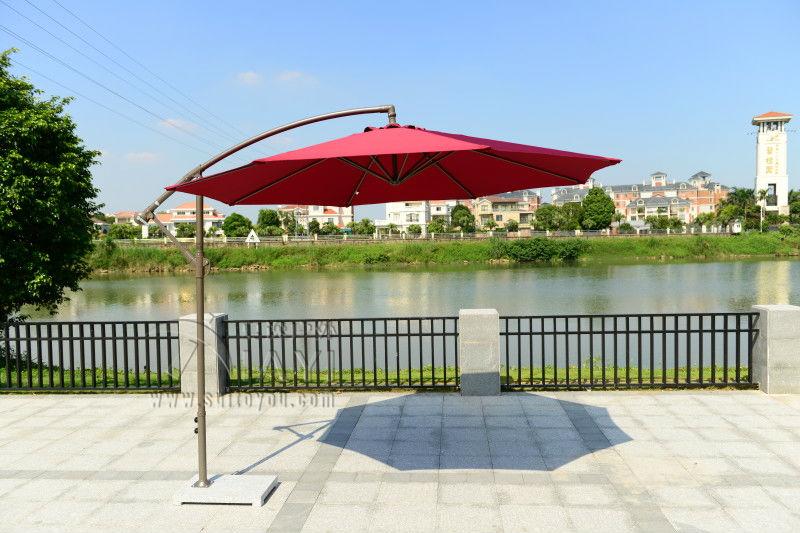 2 7 meter steel iron promotion patio sun umbrella garden parasol sunshade outdoor furniture. Black Bedroom Furniture Sets. Home Design Ideas