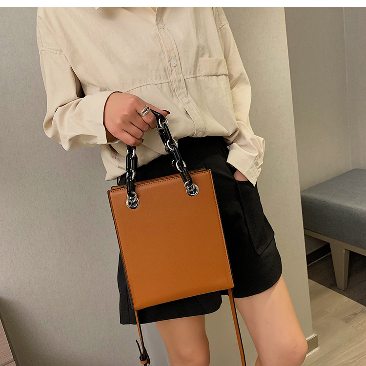 RKY0603 Simple single shoulder big female 2019 new fashion lady Korean version chain cross-body large capacity texture tote bag-5
