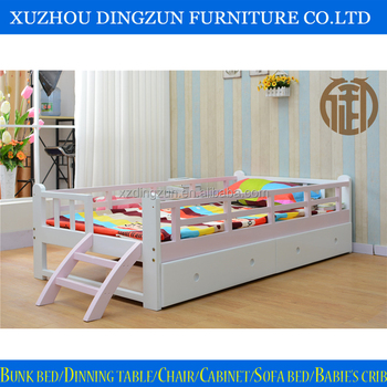 Solid wood kids bedroom furniture set fence bed child bed fall protective buy fence bed child Unfinished childrens bedroom furniture