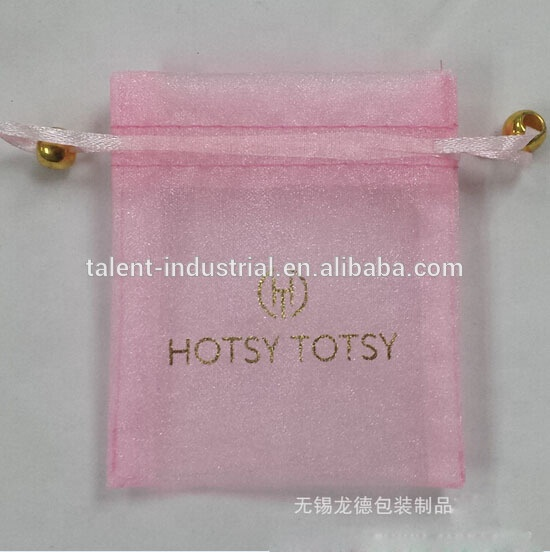 Pink Organza Christmas Gift Packaging Bags