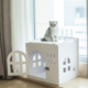 Factory direct pet kennels cage outdoor plastic dog house cat house