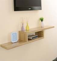 wholesale high quality natural wall shelf for dvd player