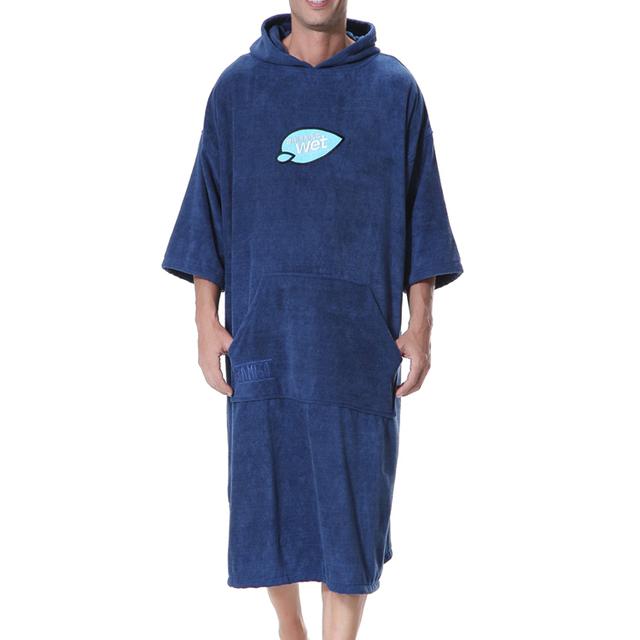 Black Reggae Surf Poncho Towel