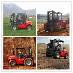 China 4WD Forklift, Rough Terrain Fork-Lift 3.5T Truck