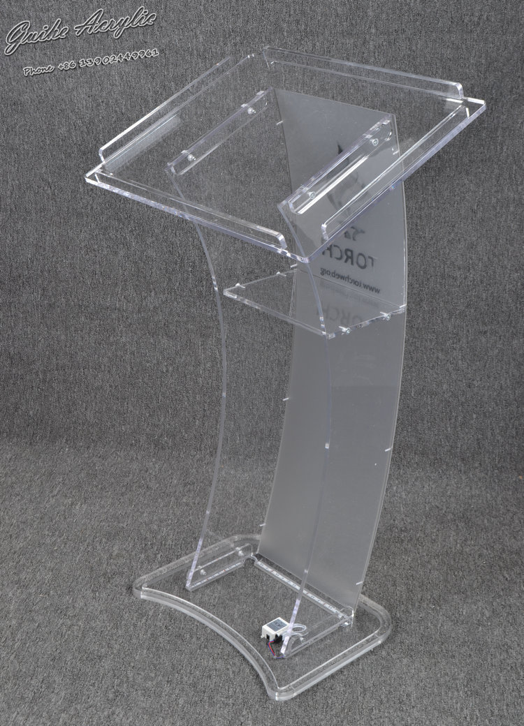 Guiheyun Carved Design Cheap Clear Modern Acrylic Podium