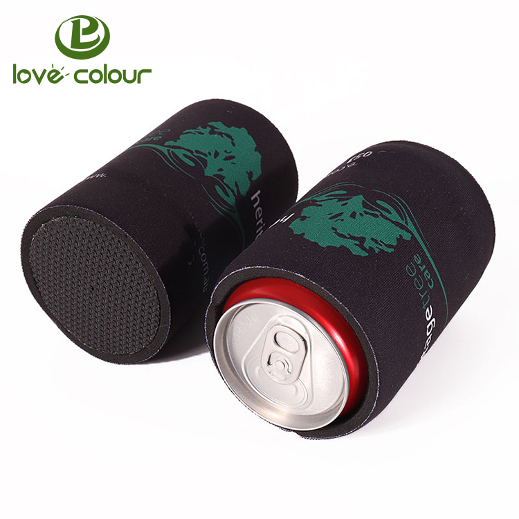 Custom 5mm Neoprene Can Cooler Black Color Stubby Beer Can Coolers