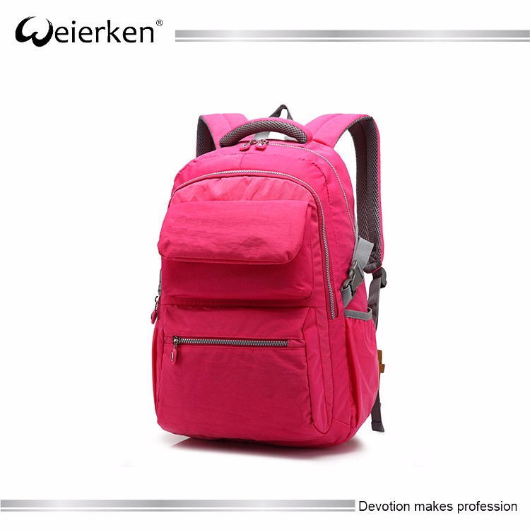 600-denier polyester cheap quilted backpack teenagers girl