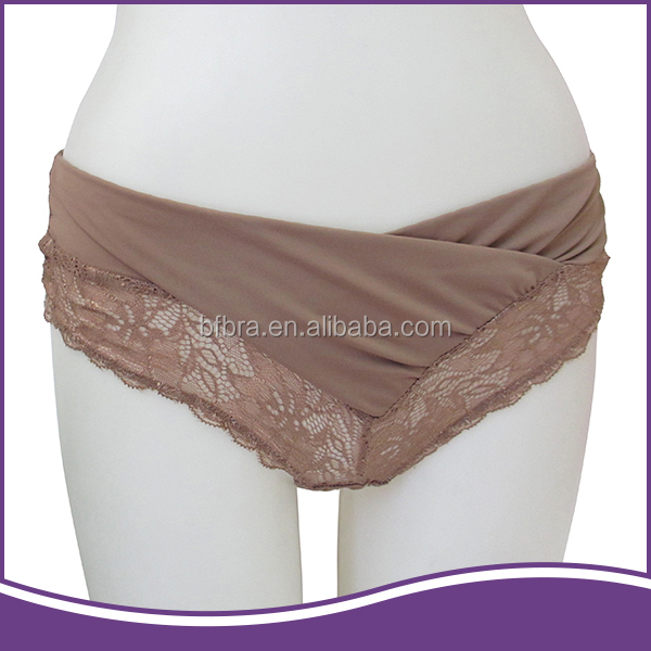 New design nylon lace brown OEM custom quick dry women thong