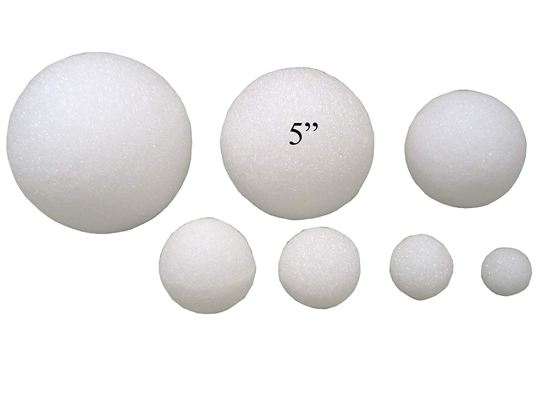 "5"" Styrofoam Arts & Crafts Balls (12 Pack)"