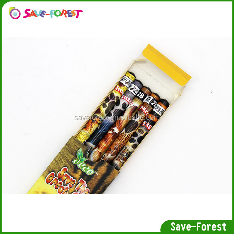 free sample stationary customized animals pencil set