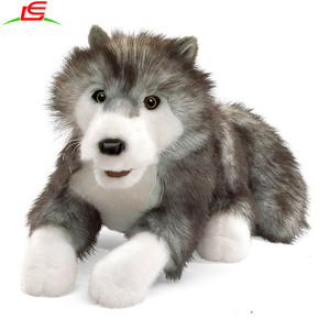 high quality animal plush stuffed soft animal wolf toys
