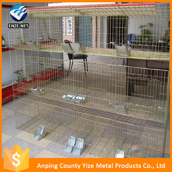 Zeer Hoogwaardige Metalen Konijnenhok/bouwen Aluminium Konijn Kooi @WQ03