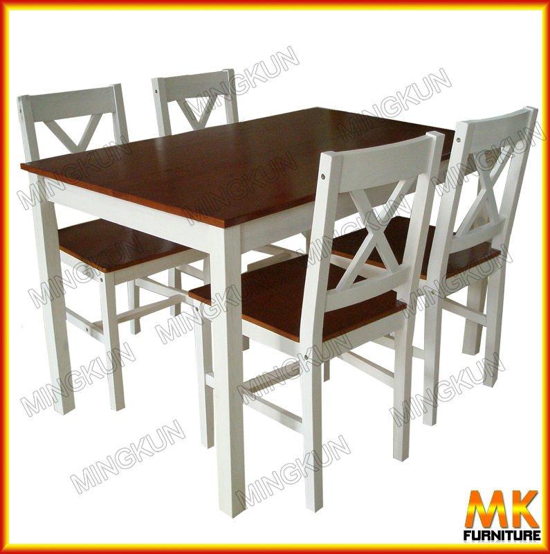Barato de madera maciza mesa de comedor conjunto sillas de for Conjunto comedor barato