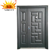 High Quality double leaf security steel door price