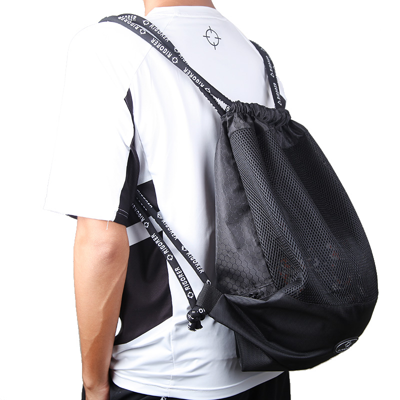 Fasion Sport Drawstring Gym Bag Multicolor Basketball Mesh Bag Drawstring for Daily sports, Gym, Ball sports