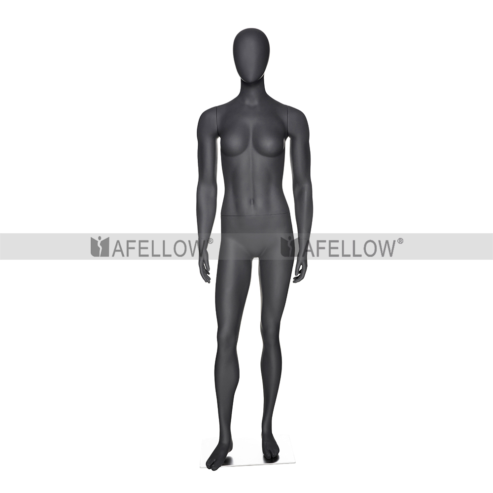 Muscular female mannequin standing lady model HEF-07-H