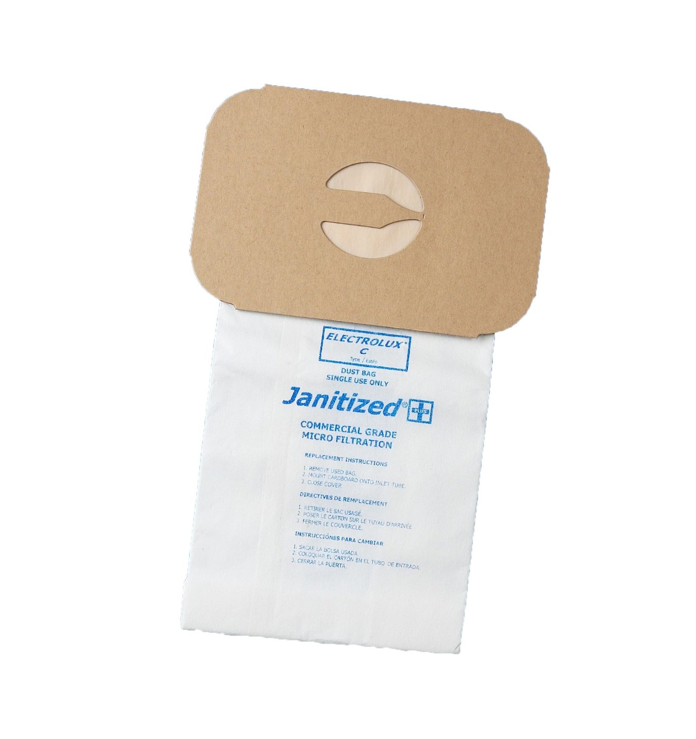 Janitized JAN-ELC-2(3) Premium Replacement Commercial Vacuum Paper Bag for Electrolux Type C Canister Vacuum Cleaner, OEM#850 (Pack of 3)