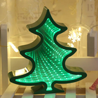 Desktop Home Decorative led Infinity Mirror Tunnel Lamp Christmas Tree Led Light