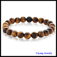 Handmade Natural Bead Jewelry Tiger Eye Stone Bracelet