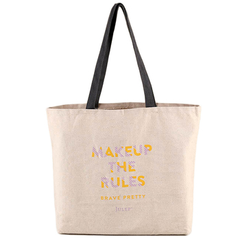 Promotional Heavy Duty Printed Logo Natural Cotton Canvas Tote Bags