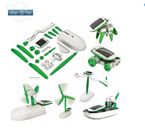 6 in 1 educational solar kit diy solar robot toy for kids