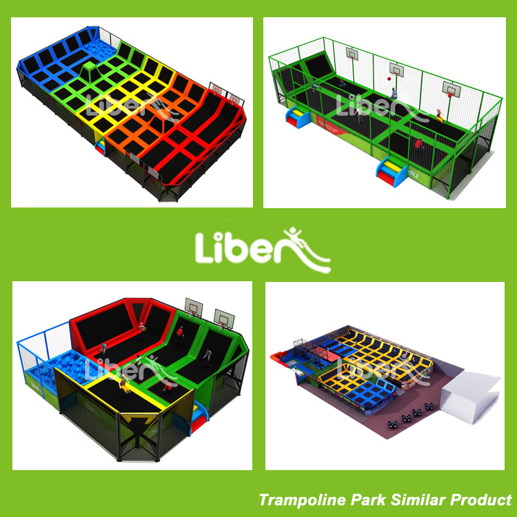 Liben 5.LE.T2.412.111.02 mini square indoor trampoline park