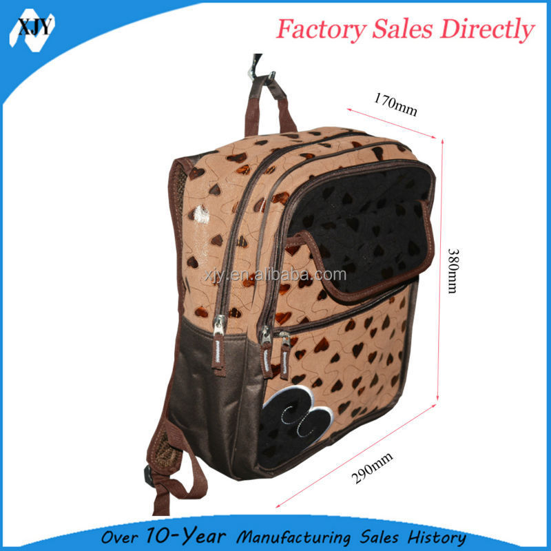 2015 new products from China cute canvas school bags for girls