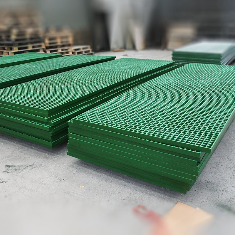 Durable fiberglass moulded grating panel, grp flooring