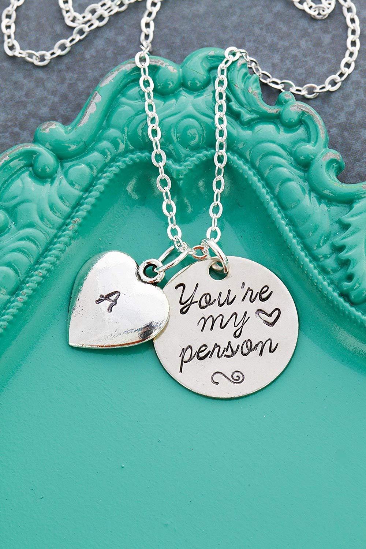 Joycuff Friendship Necklace Jewelry for Friends Women Inspirational Vertical Bar Pendants Jewellery Gift for Teen Girls
