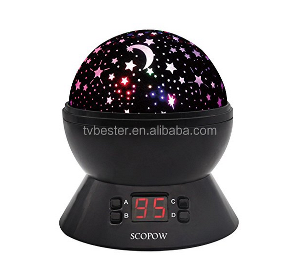 SCOPOW Constellation Night Light Star Sky with LED Timer Auto-Shut Off, 360 Degree Rotation Colorful Moon Night Lamp Gift for Ba