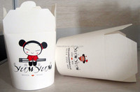 Round bottom paper take away food box/ Custom printed paper noodle container