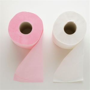 Paper towel fold pink bathroom tissue