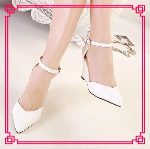 2014 nouvelle mode bonne vente chaussures de mariage talon compens sexy point mesdames toe wedge chaussures - Chaussure Mariage Compense