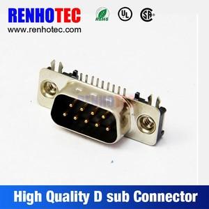 right angle d-sub connector mini db9 connector d-sub 9 pin connector d9 cable