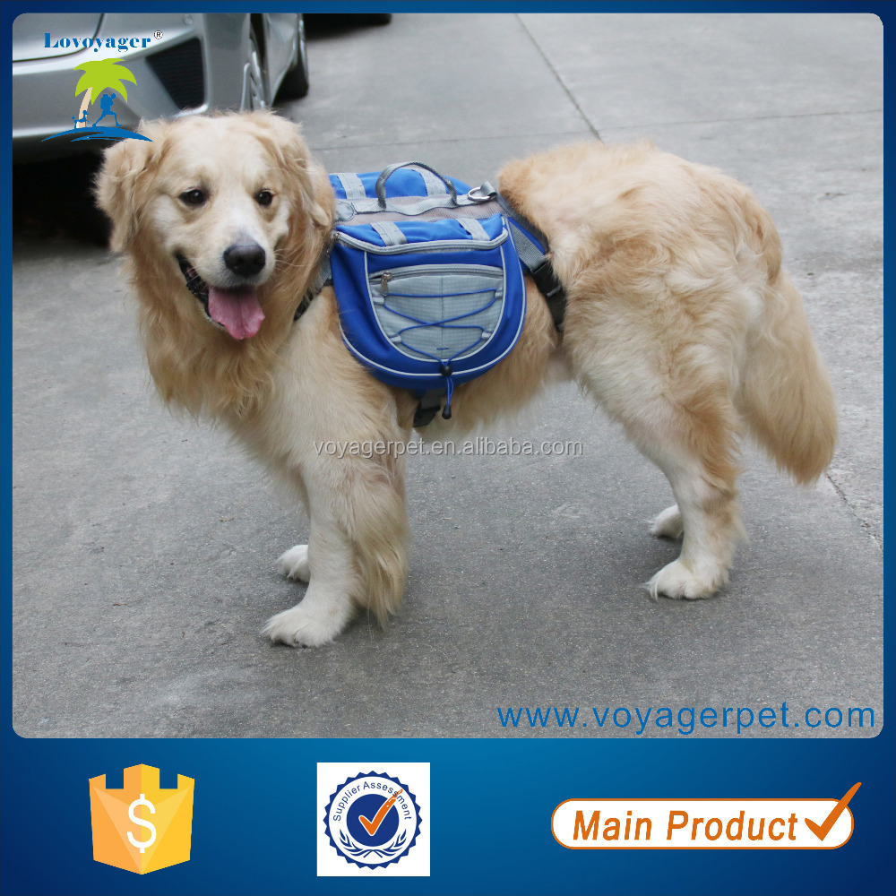 Lovoyager pet products manufacturer Nylon Sport Waterproof Dog Backpack dog saddle bag