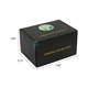 black packaging custom made corrugate shipping box