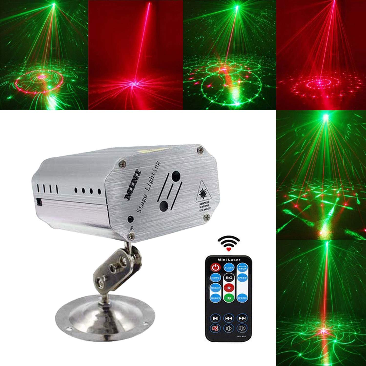 Party Lights, Tatufy DJ Disco Stage Lights,Projector Laser Lights, Karaoke Strobe Perform for Stage Lighting with Remote Control for Dancing Thanksgiving KTV Bar Birthday Outdoor