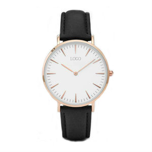Build Brand Your Own Watches Genuine Leather Stainless Steel Women Simple Stylish Watches