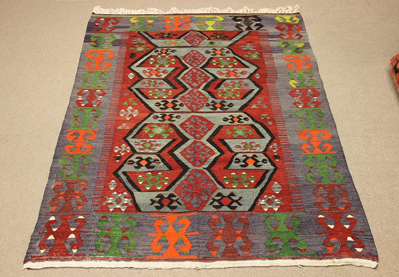 Get Quotations Handmade Vintage Kilim Rug 7 5x5 0 Feet Area Floor Turkish