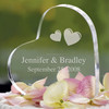 Acrylic wedding accessories heart shape photo frame cake toppers