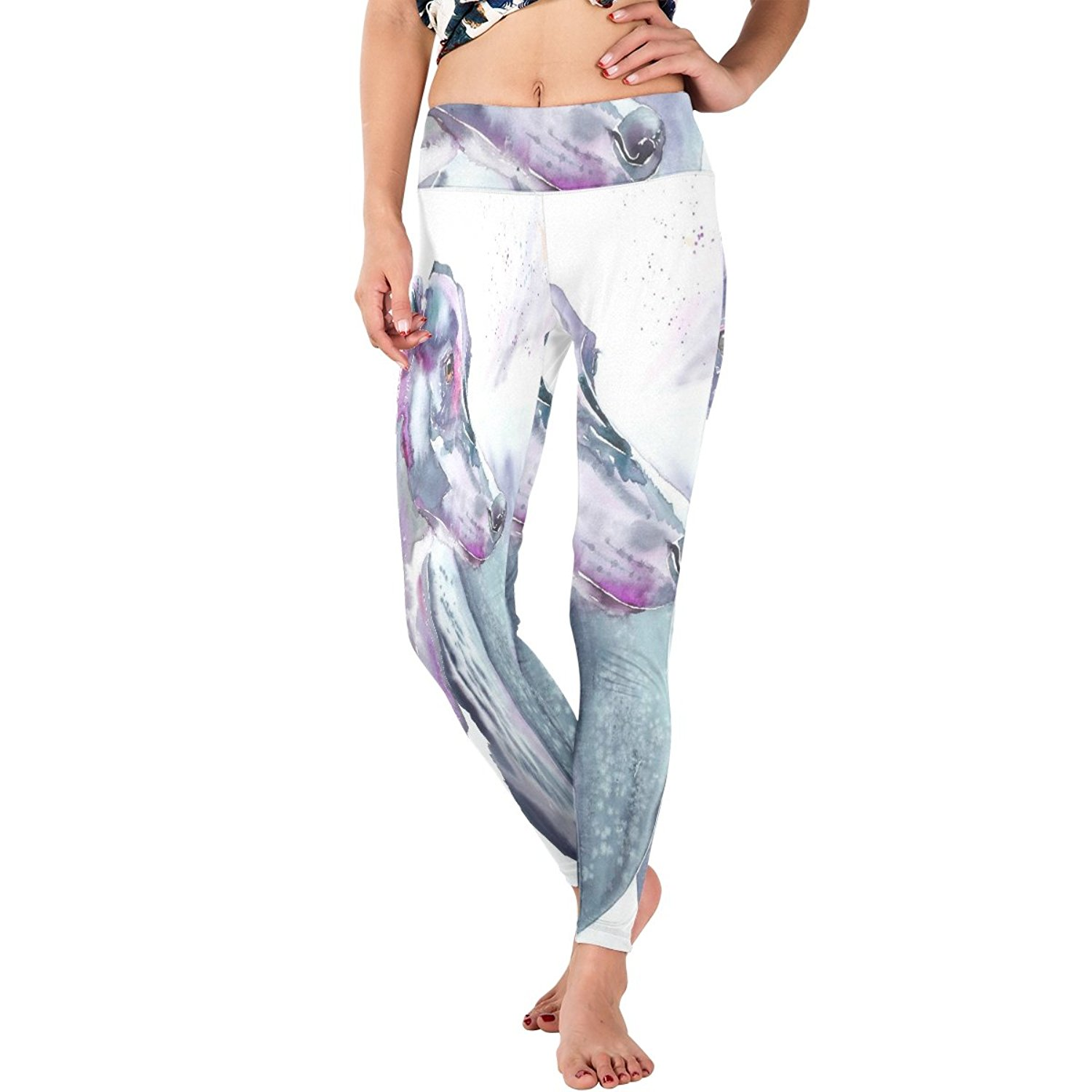 04a029b84aa7e Get Quotations · WDYSECRET Grey Hound Polyester Stretch Tight DIY Yoga Pants