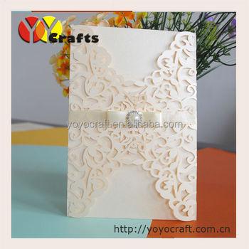 Gate Fold Design Custom Cheap Laser Cut Wedding Invitations Floral