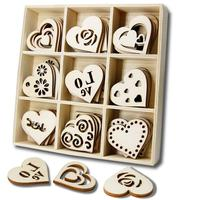 Wedding Valentine's Day Decorations Wooden Heart Embellishments Crafts