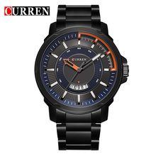 Curren Men Brand Luxury Stainless Steel Analog Quartz Watch Men Casual Sport Clock Male Black Watches 8229