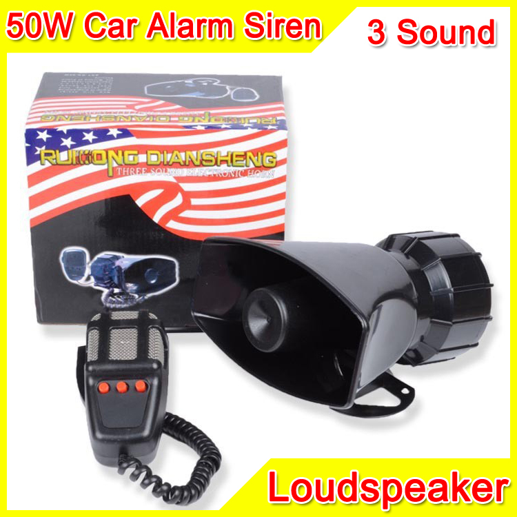buy 80w 3 sound car electronic warning siren motorcycle alarm police firemen. Black Bedroom Furniture Sets. Home Design Ideas