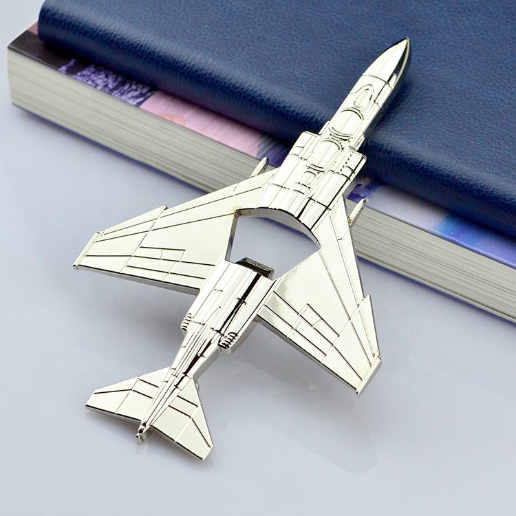 Die Cut Custom Personalised Multifunctional Hardware Military Souvenirs Aircraft Parts Airplane Shape Bottle Opener