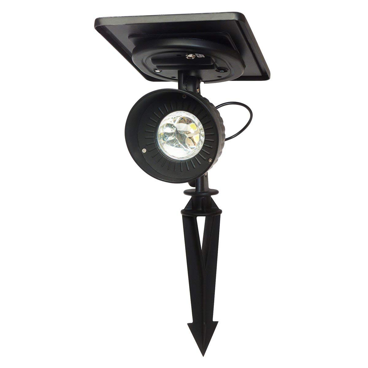 Gama Sonic Progressive Solar Outdoor Garden and Landscape LED Spotlight, Bright-White LED GS-103 - Black Finish