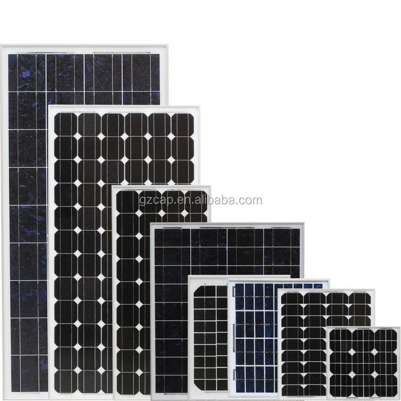 12v 24v 65w 100w 150w 250w 300w monocrystalline solar panel low price