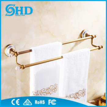 Antique Brass Bathroom Accessories Brass Double Towel Bars Antique
